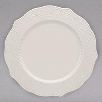 10 Strawberry Street DHLA-0001 Dahlia 10 1/2 inch White New Bone China Dinner Plate - 12/Case