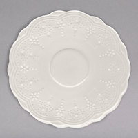 10 Strawberry Street VTNA-0009S Valentina 6 inch White New Bone China Saucer - 36/Case