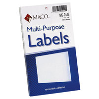 MACO MS2448 1 1/2 inch x 3 inch White Multi-Purpose Self-Adhesive Removable Labels - 160/Pack