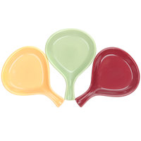 Tuxton DYP-100 DuraTux Assorted Colors 12 oz. China Fry Pan Server - 12/Case