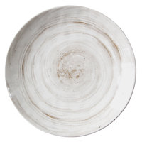 Elite Global Solutions D1115R Van Gogh Taupe 11 inch Round Melamine Plate - 6/Case