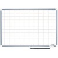 MasterVision BVCMA2793830 48 inch x 72 inch White Grid Dry Erase Planning Board - 2 inch x 3 inch Grid