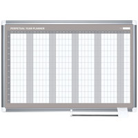 MasterVision GA0594830 Gold Ultra 48 inch x 36 inch Magnetic Perpetual Year Enameled Steel Dry Erase Board Planner with Silver Aluminum Frame