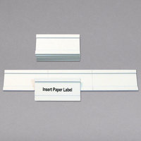 MasterVision BVCFM1325 2 inch x 1 inch Magnetic White Card Holders - 25/Pack