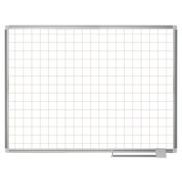 MasterVision CR0895830 36 inch x 48 inch White Grid Porcelain Dry Erase Planning Board - 2 inch x 2 inch Grid