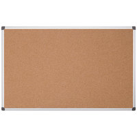 MasterVision CA211170 48 inch x 96 inch Natural Cork Board with Aluminum Frame