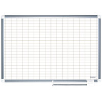MasterVision BVCMA2792830 48 inch x 72 inch White Grid Dry Erase Planning Board - 1 inch x 2 inch Grid
