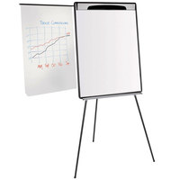 MasterVision EA23062119 Gold Ultra 28 inch x 38 1/2 inch Magnetic Dry Erase Tripod Style Telescoping Easel with Black and Silver Frame