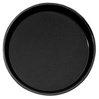 Cambro PT1600110 Black 16 inch Round Polytread Serving Tray