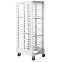 Rubbermaid FG332000WHT ProServe 18 Pan End Load Max System White Bun / Sheet Pan Rack - Unassembled