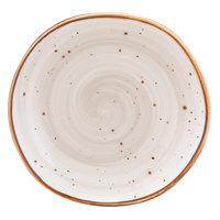 10 Strawberry Street SAN-4-PBLO Santa Fe 8 1/2 inch Pueblo Brown China Plate - 24/Case