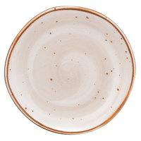 10 Strawberry Street SAN-5-PBLO Santa Fe 6 1/2 inch Pueblo Brown China Plate - 30/Case