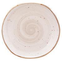 10 Strawberry Street SAN-1-PBLO Santa Fe 10 1/2 inch Pueblo Brown China Plate - 12/Case