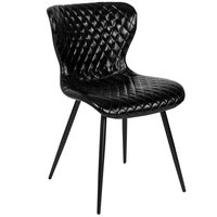 Flash Furniture LF-9-07A-BLK-GG Bristol Contemporary Black Vinyl Upholstered Chair