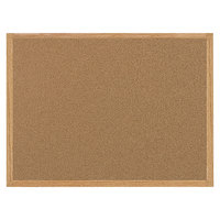 MasterVision SF152001239 36 inch x 48 inch Cork Board with Oak Frame