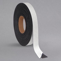 MasterVision BVCFM2021 1 inch x 50' Black Magnetic Adhesive Dry Erase Tape Roll