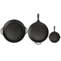Valor 3-Piece Pre-Seasoned Cast Iron Skillet Set - Includes 8 inch, 15 inch, and 17 inch Skillets