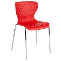 Flash Furniture LF-7-07C-RED-GG Lowell Contemporary Red Plastic Stackable Chair