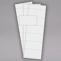 MasterVision FM1513 1 3/4 inch x 3 inch White Replacement Data Card - 500/Pack