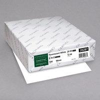 Neenah 20287 Crane's Crest 8 1/2 inch x 11 inch Fluorescent White Ream of 24# Copy Paper - 500/Ream