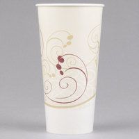 Dart Solo RS22N-J8000 Symphony 22 oz. Wax Treated Paper Cold Cup - 1000/Case