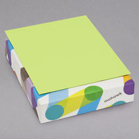 Mohawk 104034 BriteHue 8 1/2 inch x 11 inch Ultra Lime Ream of 24# Multipurpose Colored Paper   - 500/Ream