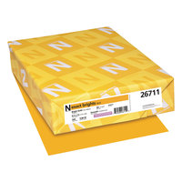 Neenah 26711 Exact Brights 8 1/2 inch x 11 inch Bright Gold Ream of 20# Copy Paper   - 500/Ream
