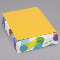 Mohawk 102442 BriteHue 8 1/2 inch x 11 inch Ultra Orange Ream of 24# Multipurpose Colored Paper   - 500/Ream