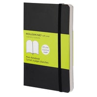 Moleskine MS717 5 1/2 inch x 3 1/2 inch Black Plain Softcover Notebook