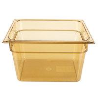 Carlisle 10423B13 StorPlus 1/2 Size Amber High Heat Food Pan - 8 inch Deep
