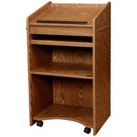 Oklahoma Sound 600MO Medium Oak Finish Aristocrat Floor Host Stand
