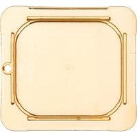 Carlisle 10516U13 StorPlus 1/6 Size Amber Universal High Heat Flat Lid