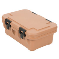 Cambro UPCS160157 Coffee Beige S-Series Ultra Food Pan Carrier Insulated Top Loading