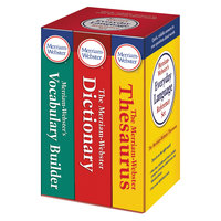 Merriam-Webster 3328 Paperback Everyday Language English Reference Set with Dictionary / Thesaurus / Vocabulary Builder