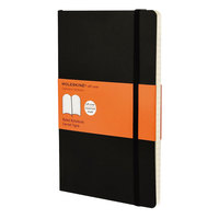 Moleskine MSL14 8 inch x 5 inch Black Ruled Softcover Notebook