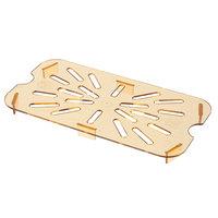 Carlisle 3089513 StorPlus 1/4 Size Amber High Heat Drain Tray
