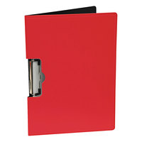 Mobile Ops 61642 1/2 inch Capacity 8 1/2 inch x 11 inch Red Side Loading Portfolio Clipboard with Low-Profile Clip