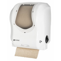 San Jamar T7470WHCL Simplicity Essence Summit White Clear Hands Free Paper Towel Dispenser