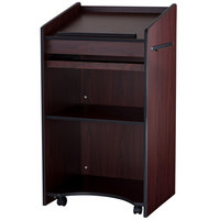 Oklahoma Sound 600MY Mahogany Finish Aristocrat Floor Host Stand