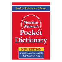Merriam-Webster 530 Paperback 416 Page Pocket English Dictionary