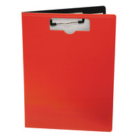 Mobile Ops 61632 1/2 inch Capacity 8 1/2 inch x 11 inch Red Top Loading Portfolio Clipboard with Low-Profile Clip