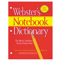 Merriam-Webster FSP0566 Paperback 80 Page Three Hole Punched Notebook English Dictionary