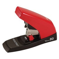 MAX HD11UFL 80 Sheet Red and Brown Heavy-Duty Flat-Clinch Stapler