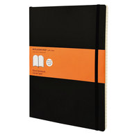 Moleskine MSX14 10 inch x 7 1/2 inch Black Ruled Softcover Notebook