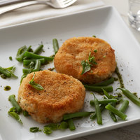 Spring Glen Fresh Foods 4 oz. Fried Garlic Herb Risotto Cakes - 20/Case
