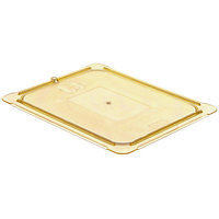 Carlisle 10436U13 StorPlus 1/2 Size Amber Universal High Heat Flat Lid