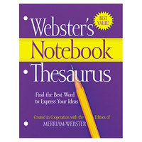 Merriam-Webster FSP0573 Paperback 80 Page Three Hole Punched Notebook English Thesaurus