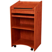 Oklahoma Sound 600CH Wild Cherry Finish Aristocrat Floor Host Stand