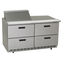 Delfield UCD4460N-12M 60 inch 4 Drawer Mega Top Reduced Height Refrigerated Sandwich Prep Table