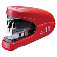 MAX HD11FLKRD 35 Sheet Red Flat-Clinch Light Effort Stapler